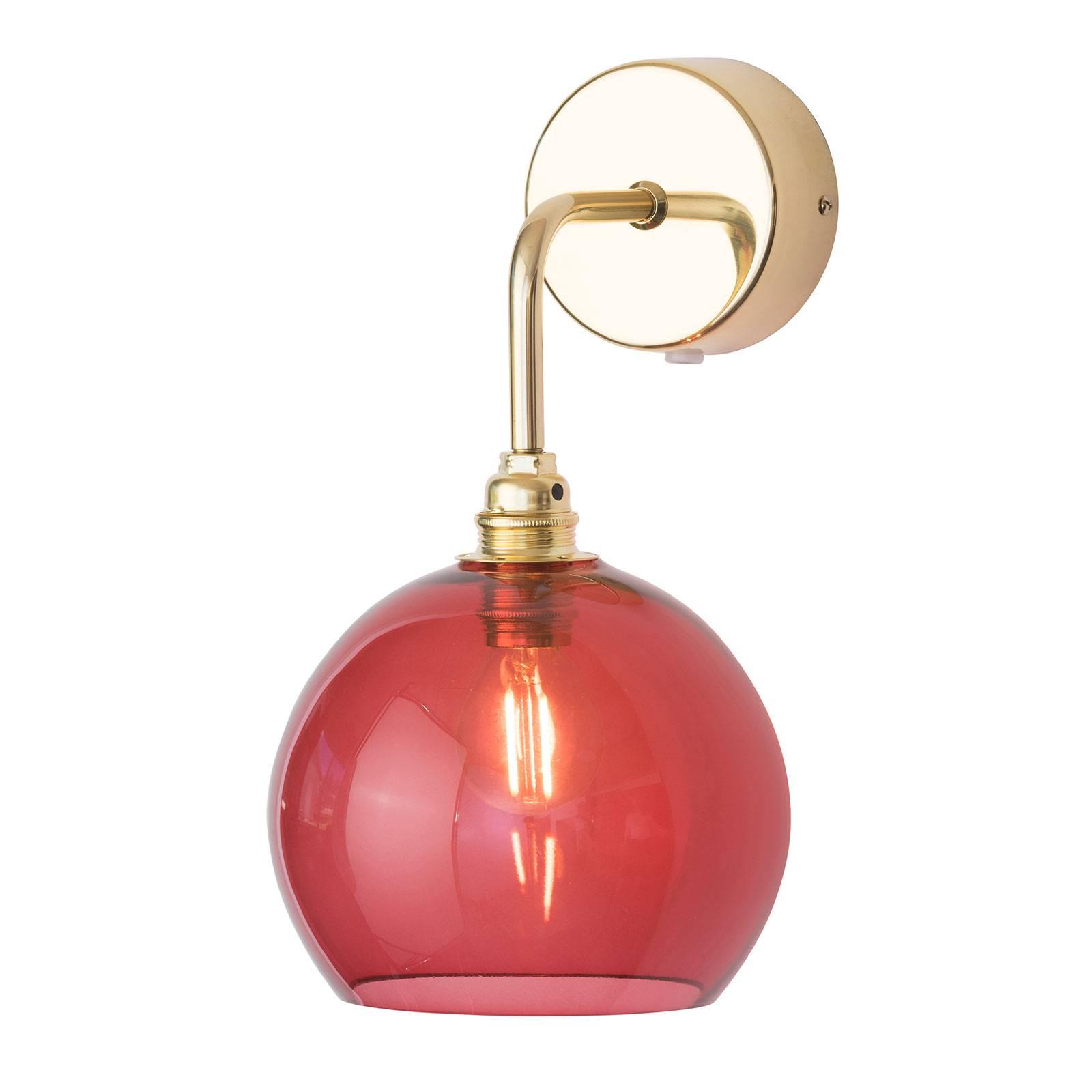 EBB & FLOW Rowan wandlamp goud kap rood