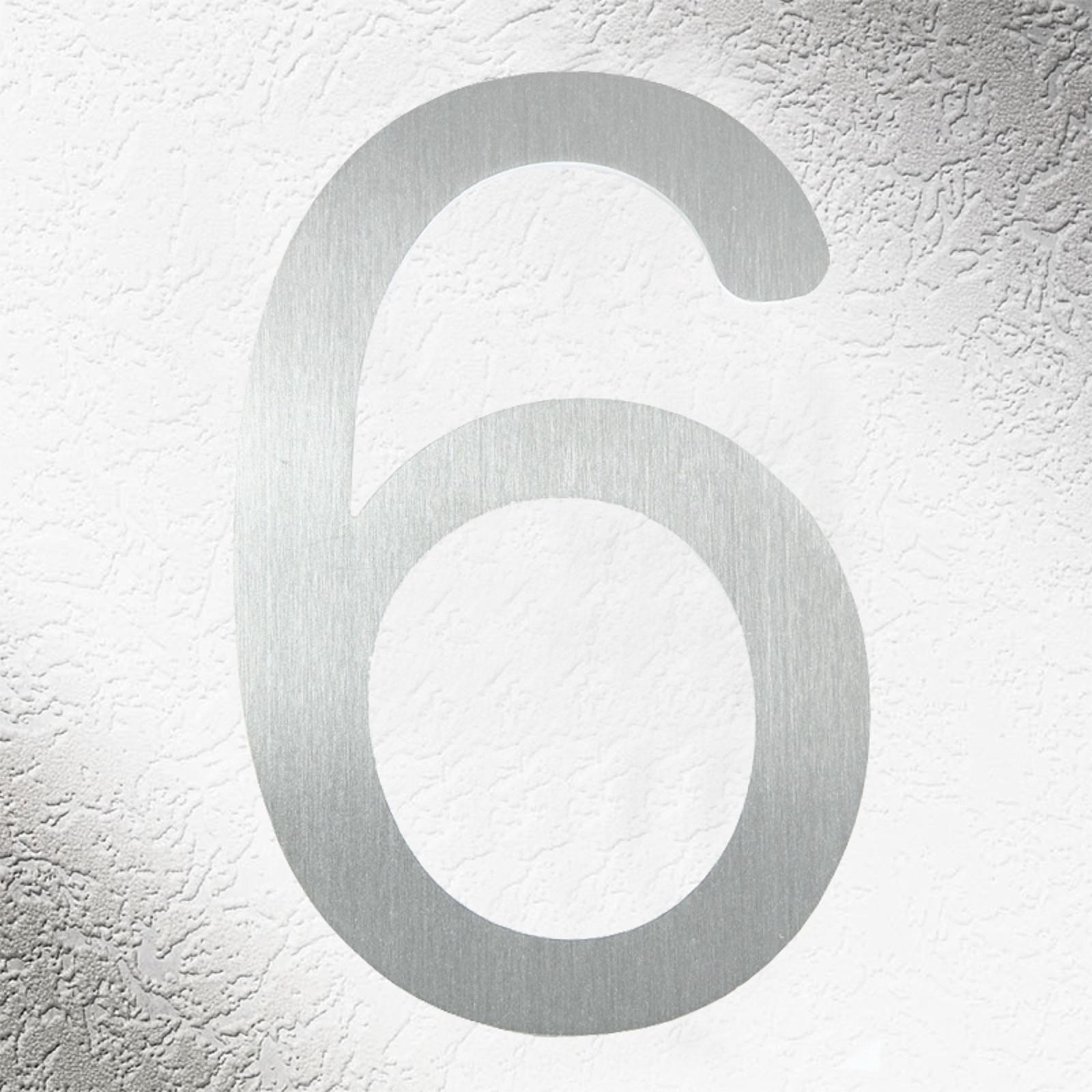 Números de casa de alta calidad acero inoxidable 6