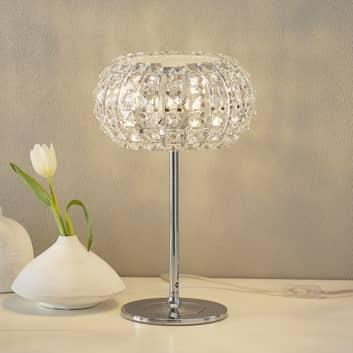 Stolní lampa DIAMOND s křišťály 24 cm