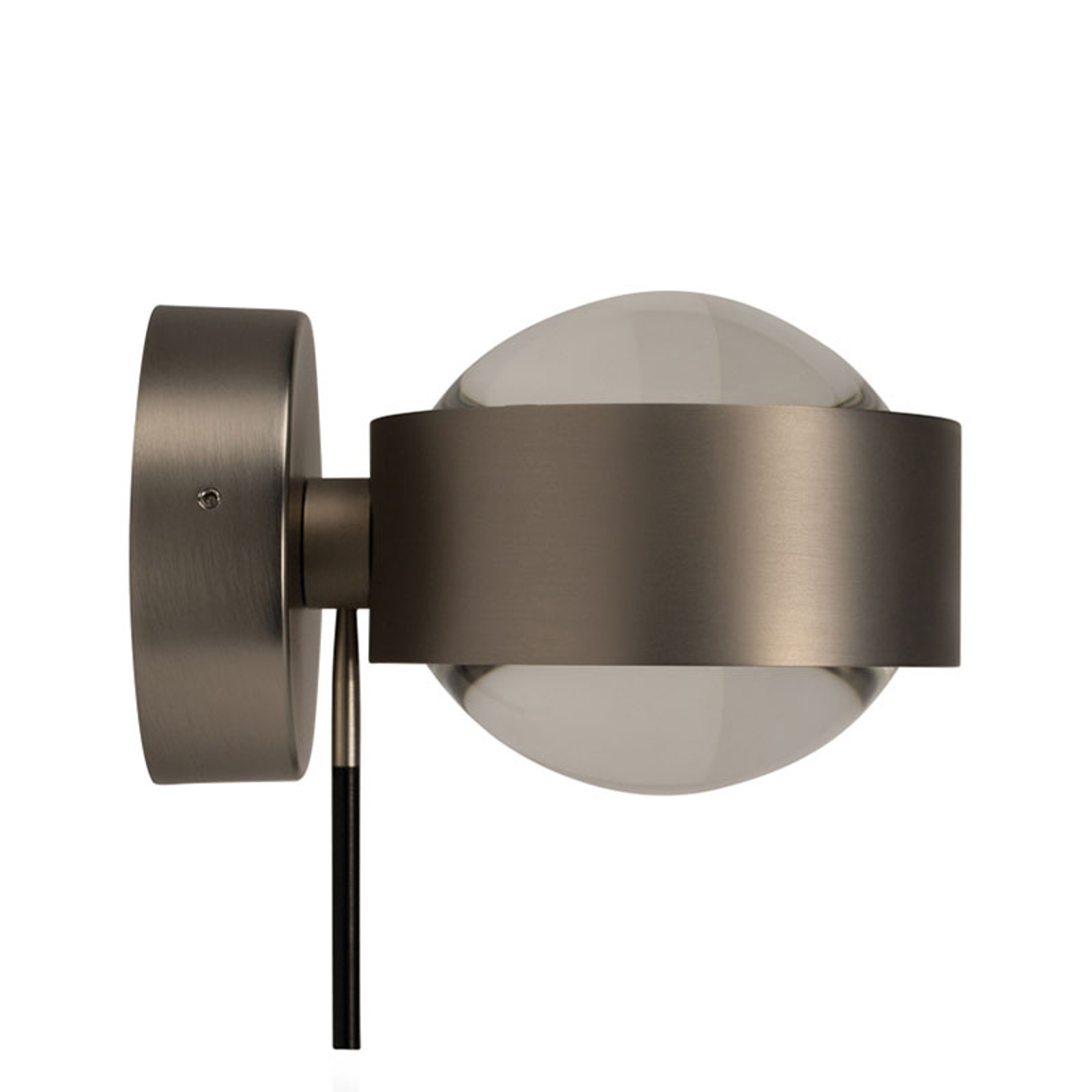 LED-Wandleuchte Puk Wall+, nickel matt