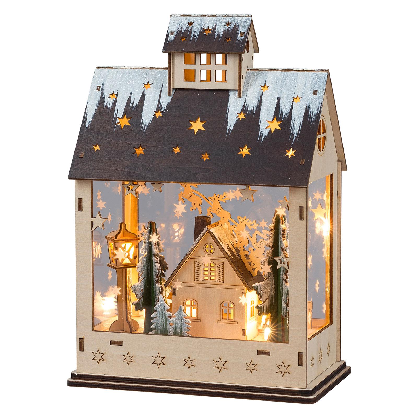 LED-Dekoleuchte Weihnachtshaus
