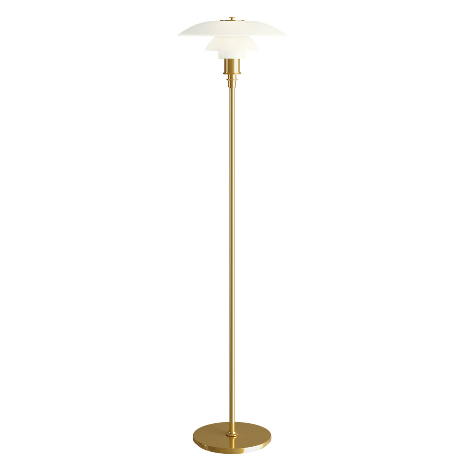 Louis Poulsen PH 3 1/2-2 1/2 lampadaire laiton