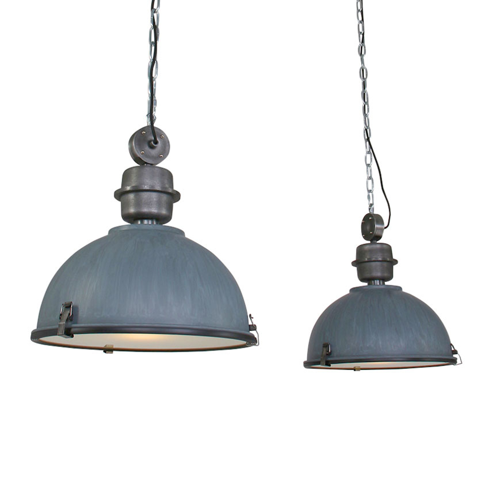 Suspension Bikkel 2 lampes, gris