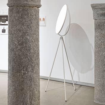 Hvid designer standerlampe Superloon med LED