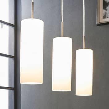 Vinsta - tripla lampada sospesa di vetro bianco