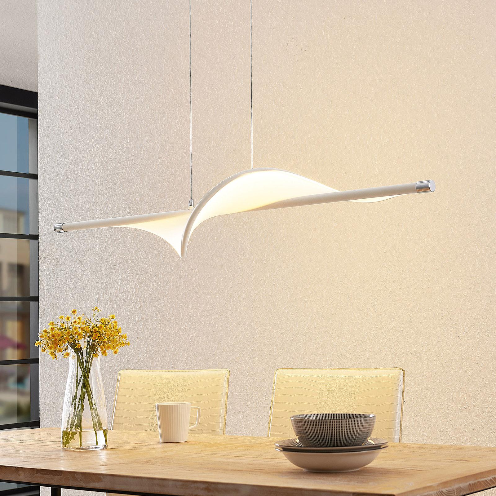 Lucande Edano LED sospensione, luce 3 livelli