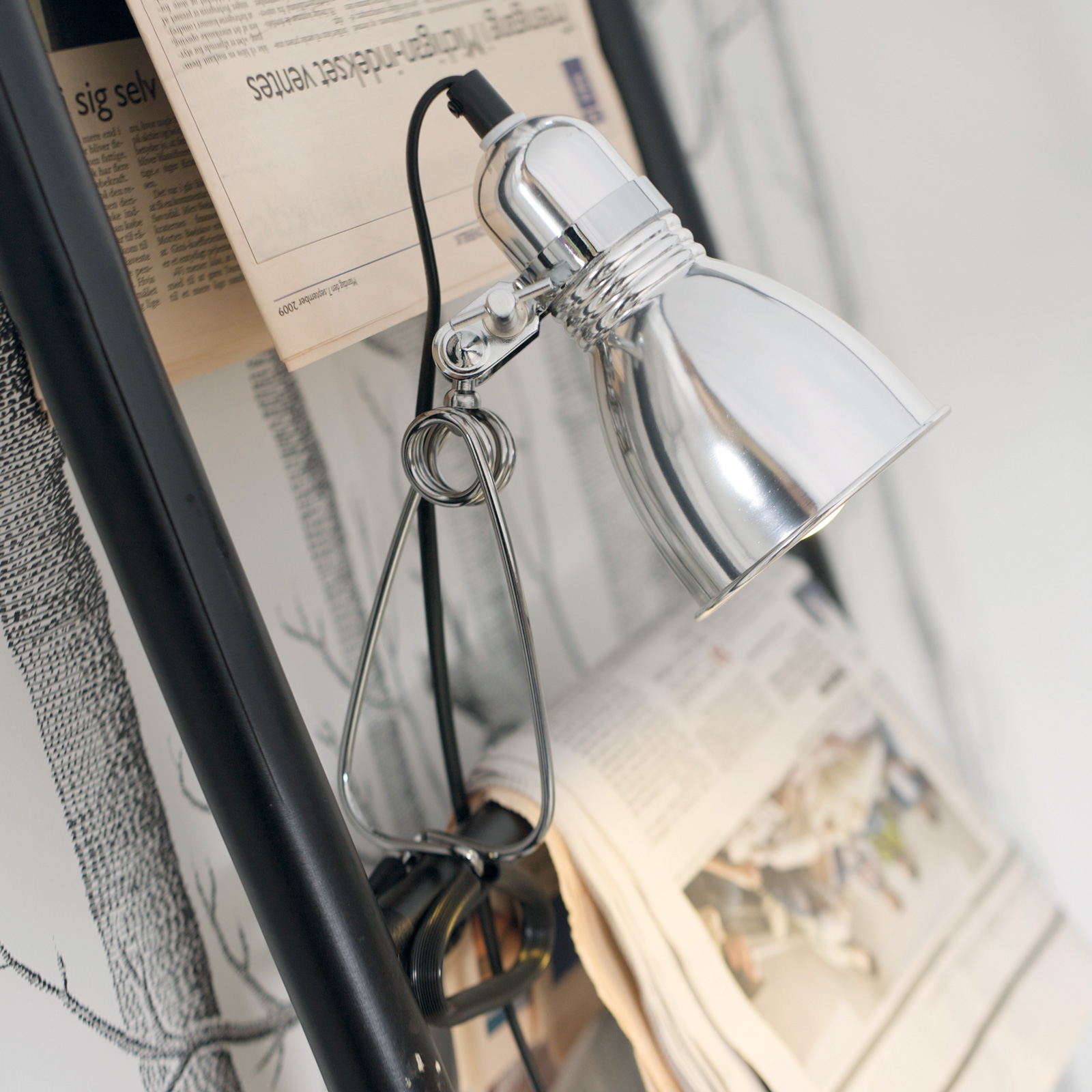 Photo clip-on light in glossy aluminium_7006313_1
