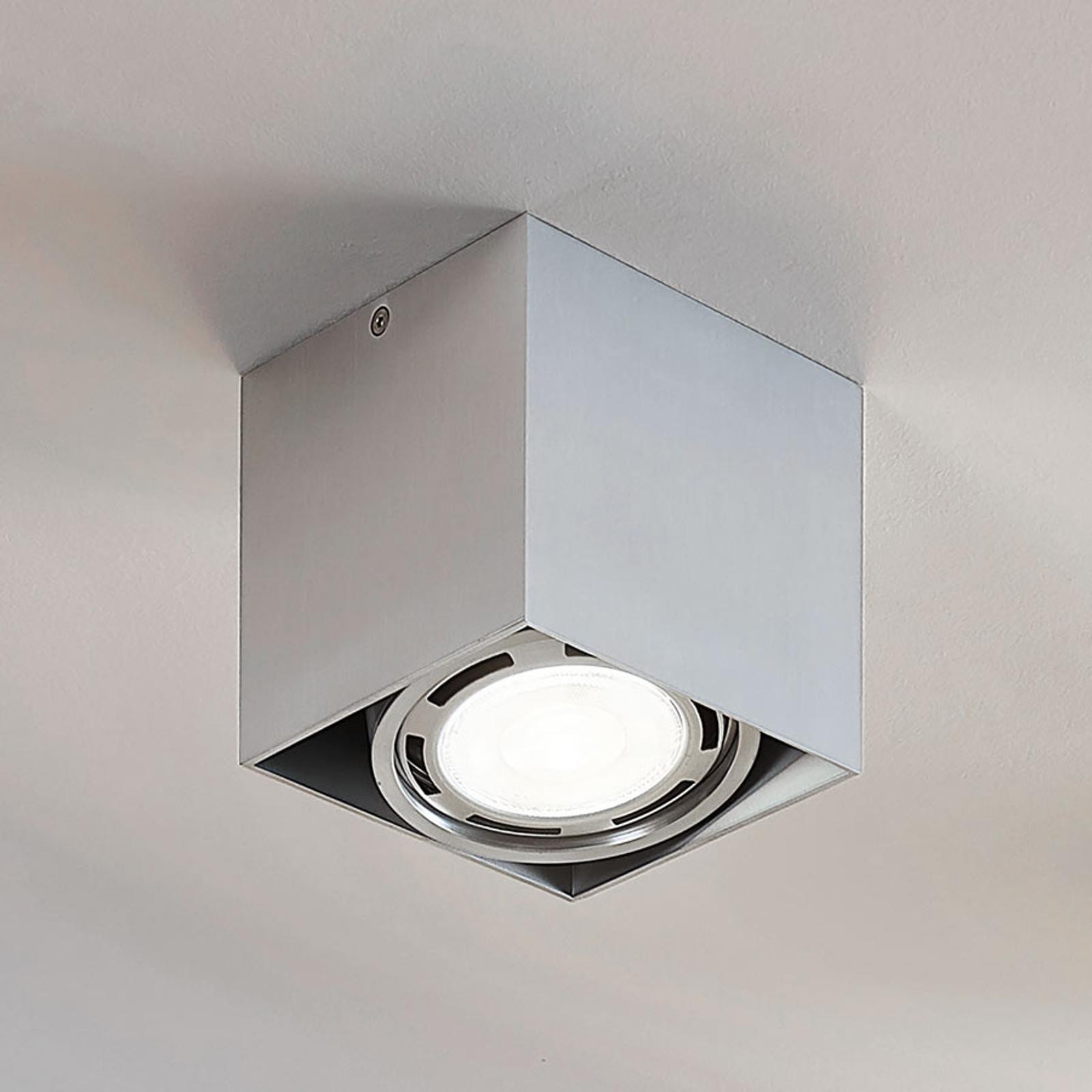 Downlight LED Rosalie à 1 lampe, angulaire, alu