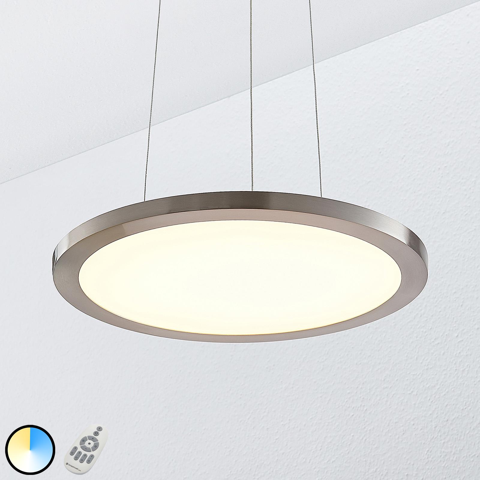 Lampa wisząca LED Tess, 2700-6200K, 40 cm,chrom