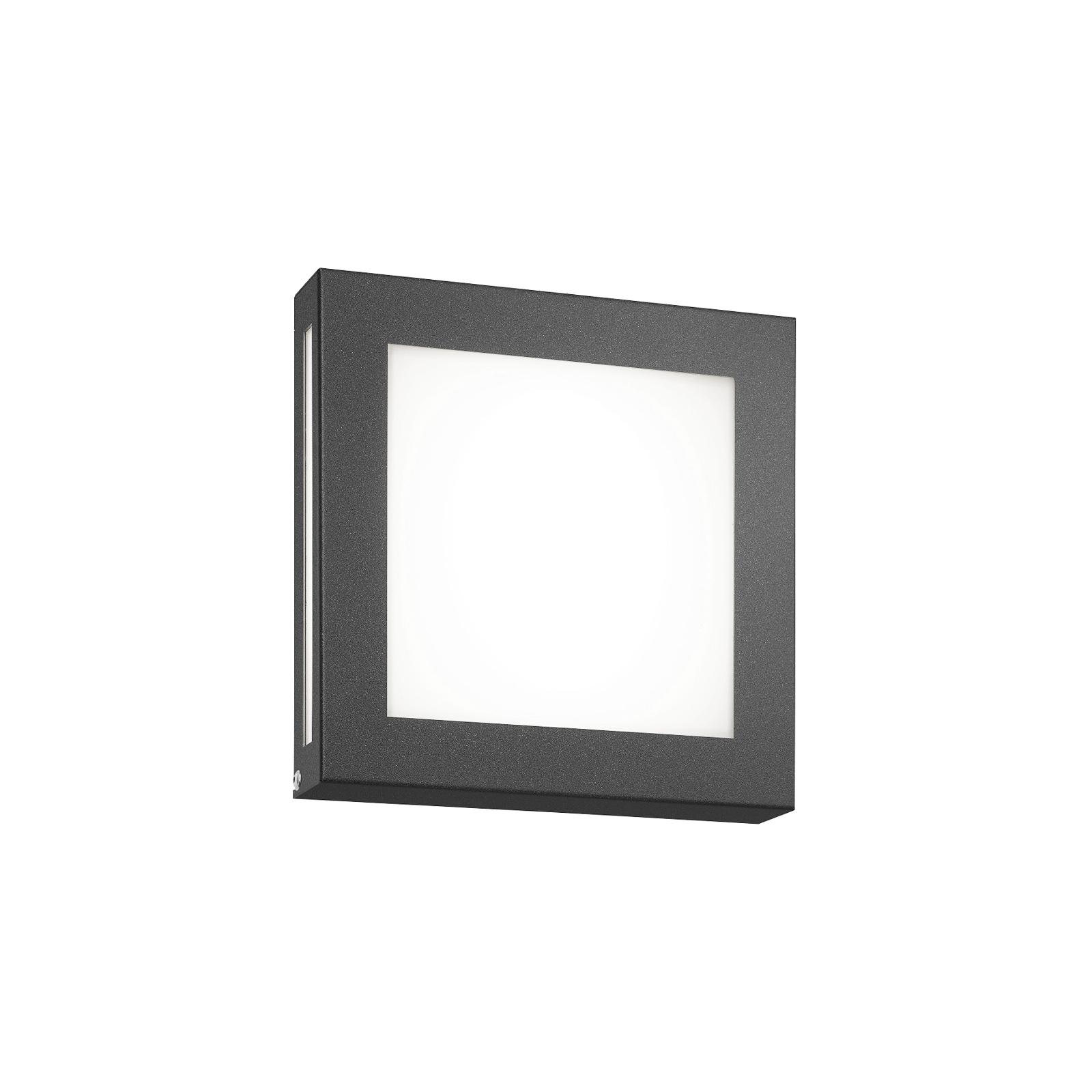 Antrasitt utendørs LED-vegglampe Legendo Mini