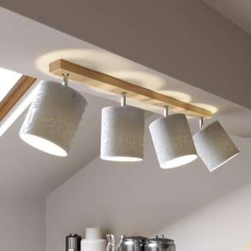 Spot pour plafond Hierro à 4 lampes