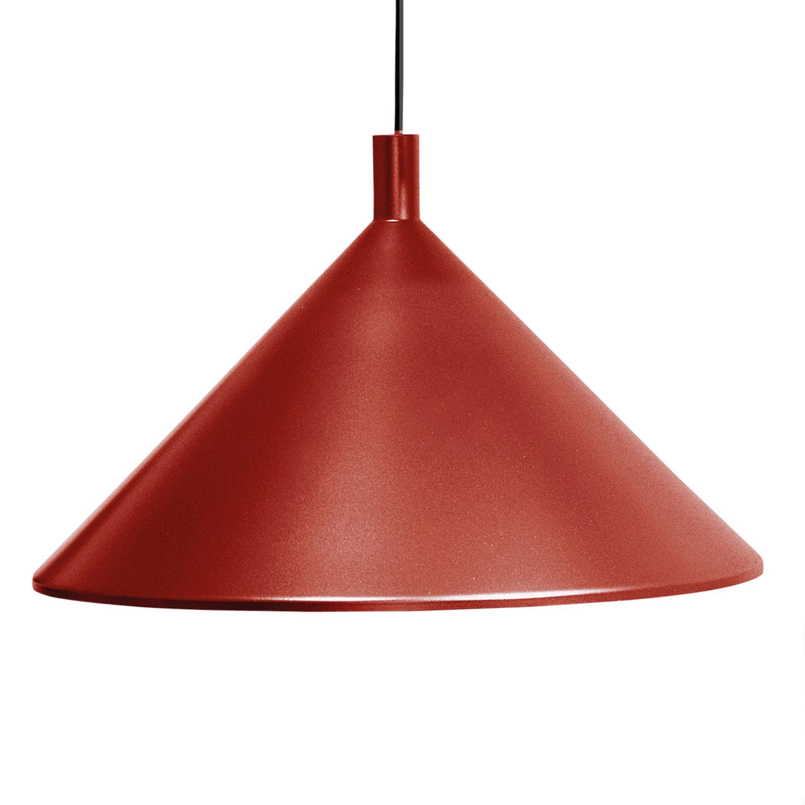 Martinelli Luce Cono lampa wisząca czerwona, Ø45cm