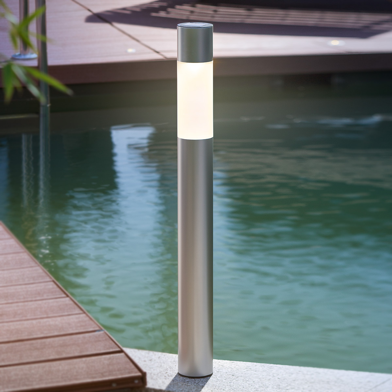 Modern LED-solarlampa Pole Light