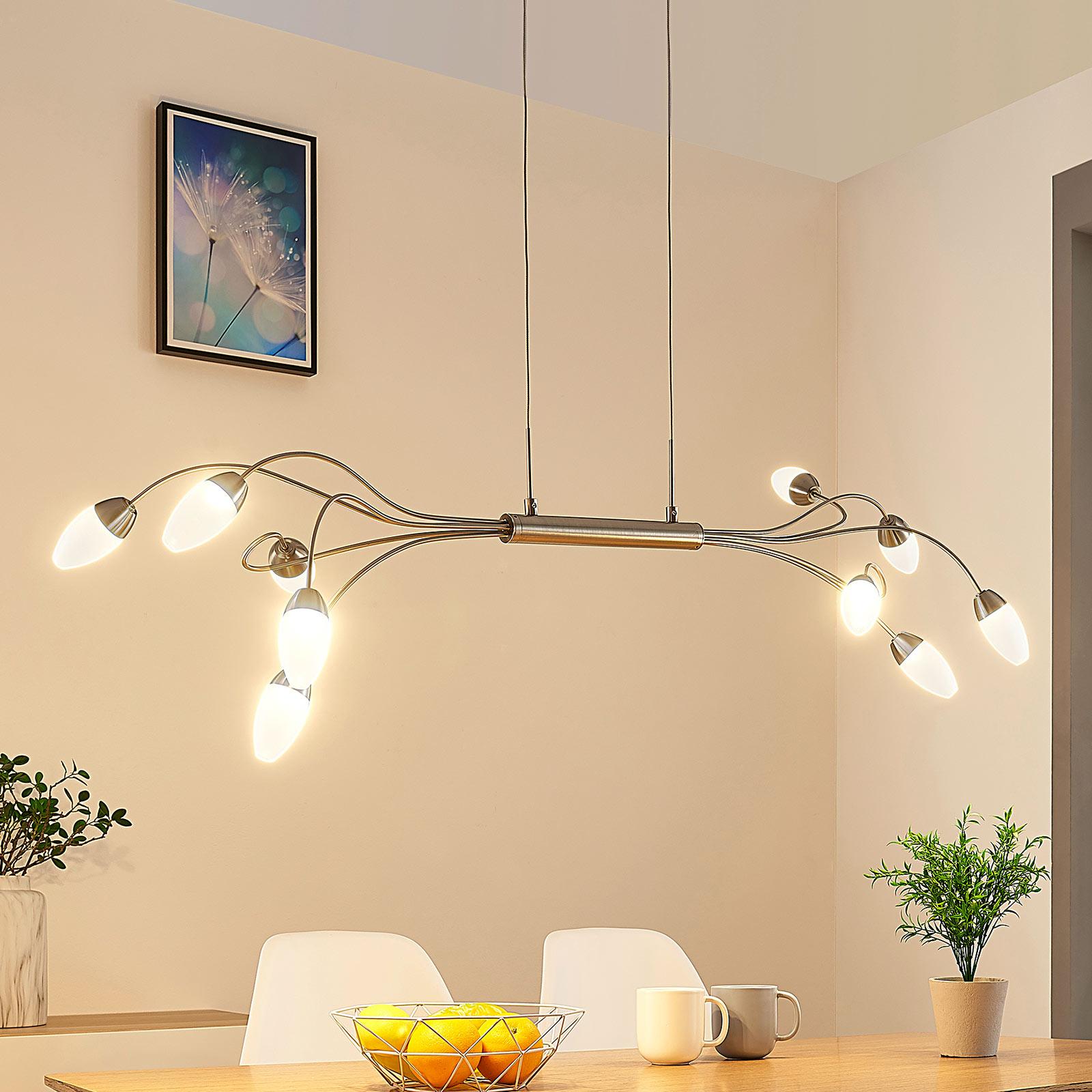 Deyan LED-pendellampe, kan dæmpes, 10 lyskilder