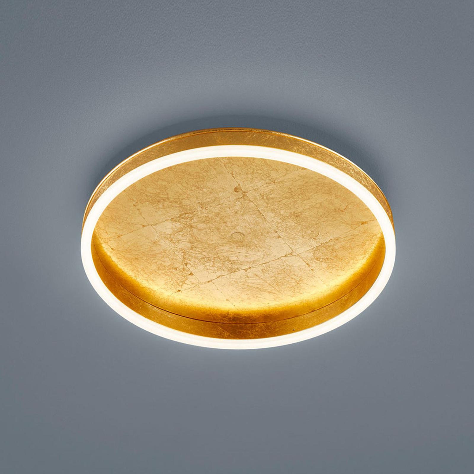 Helestra Sona LED-taklampe dimbar, Ø40cm gull