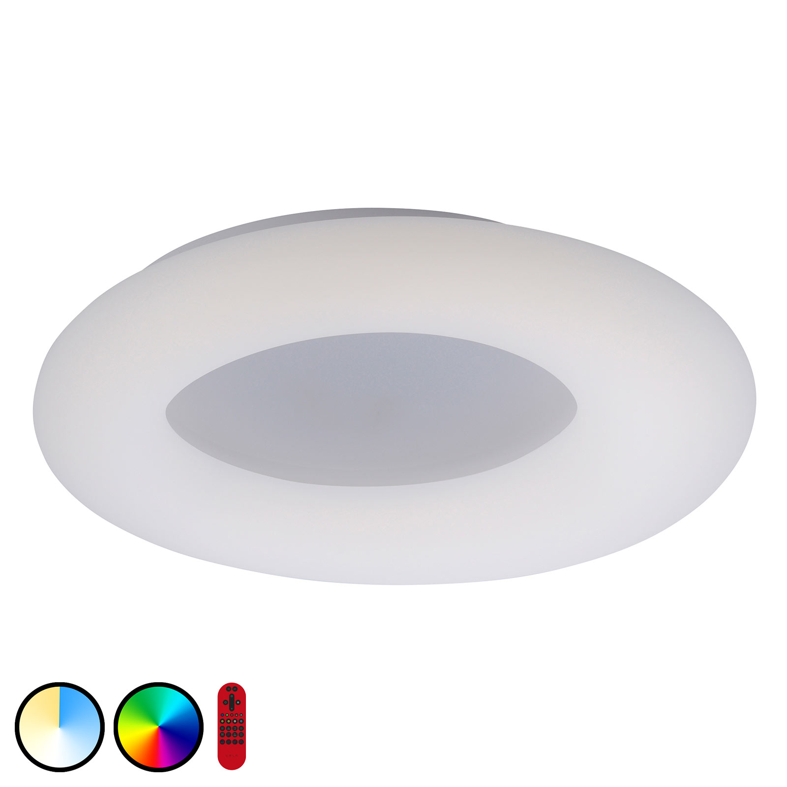 LOLAsmart Donut LED-taklampe, Ø 60 cm