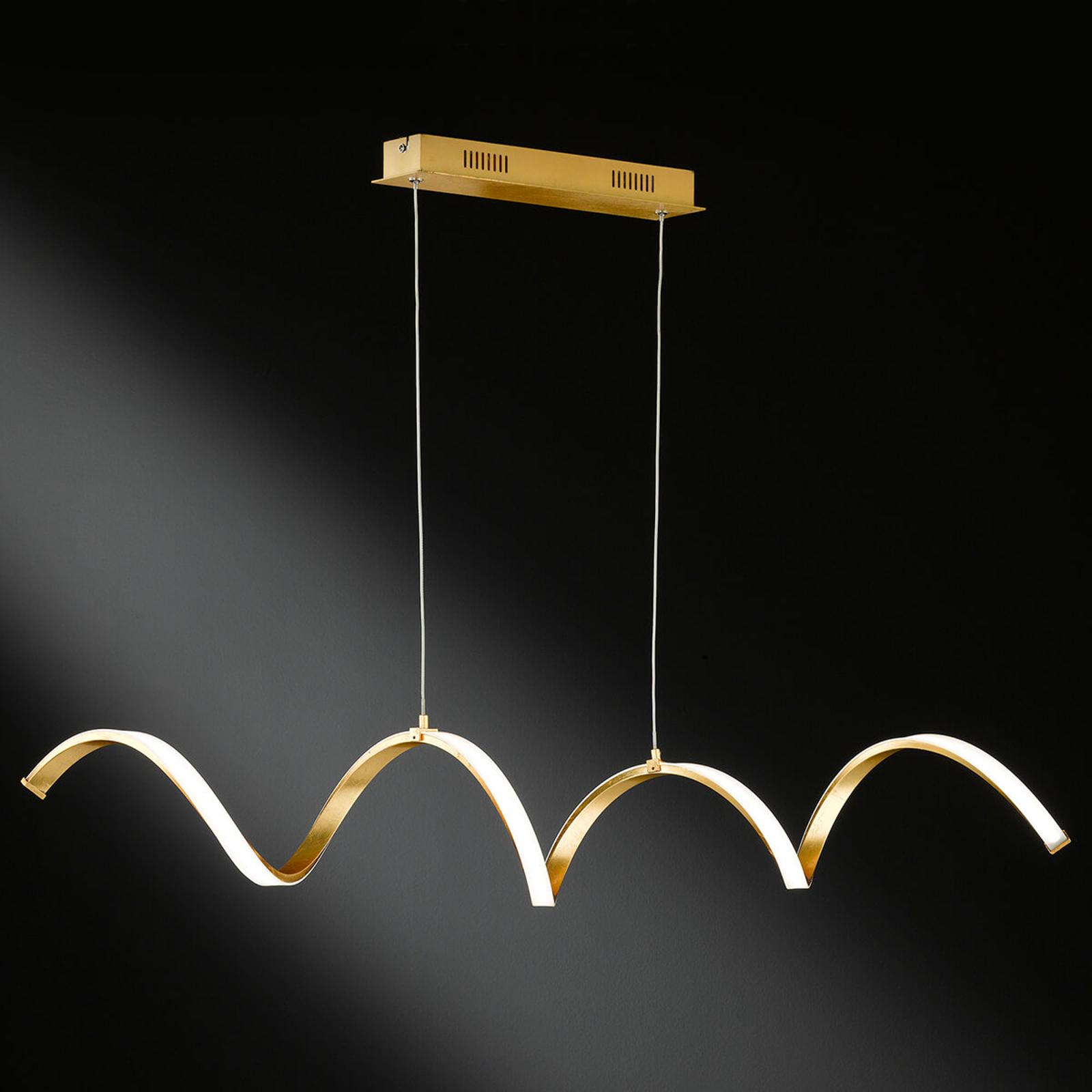 Russell - ekstrawagancka lampa wisząca LED, złota