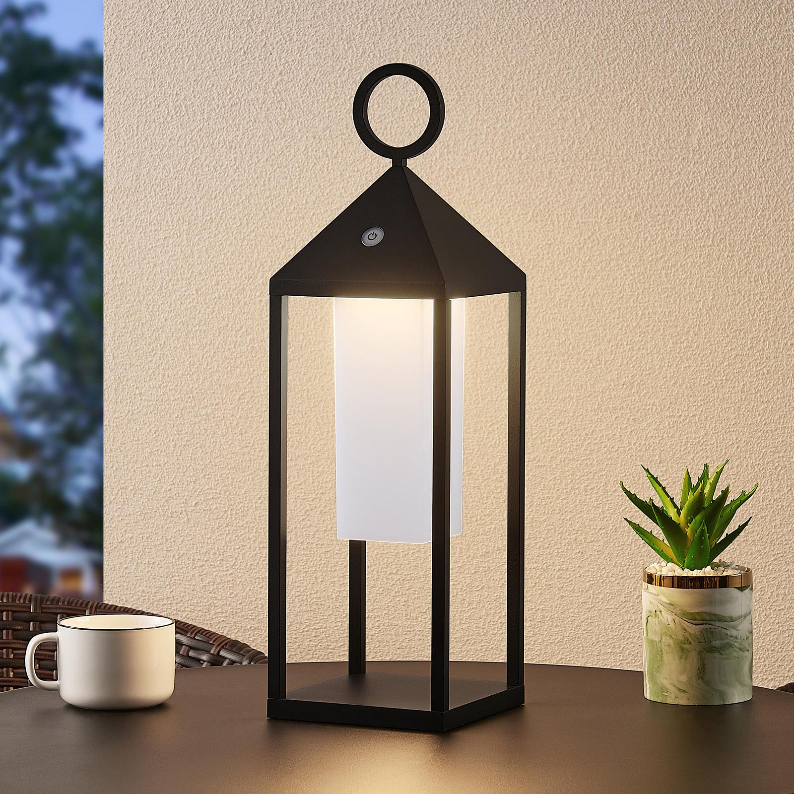 Lucande Miluma LED-Außenlaterne, 54 cm, schwarz