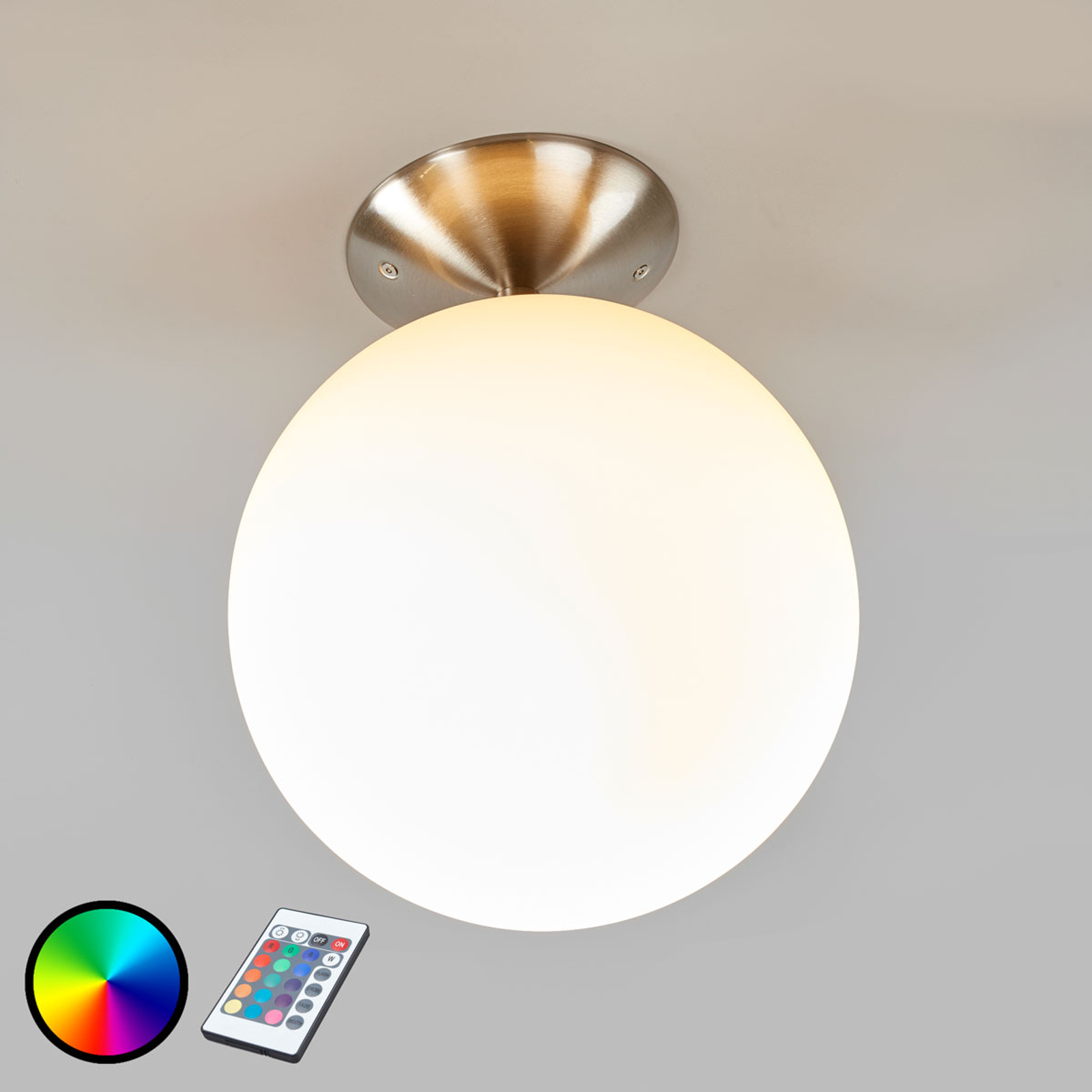 Abstands-Deckenlampe Rondo-C LED RGBW