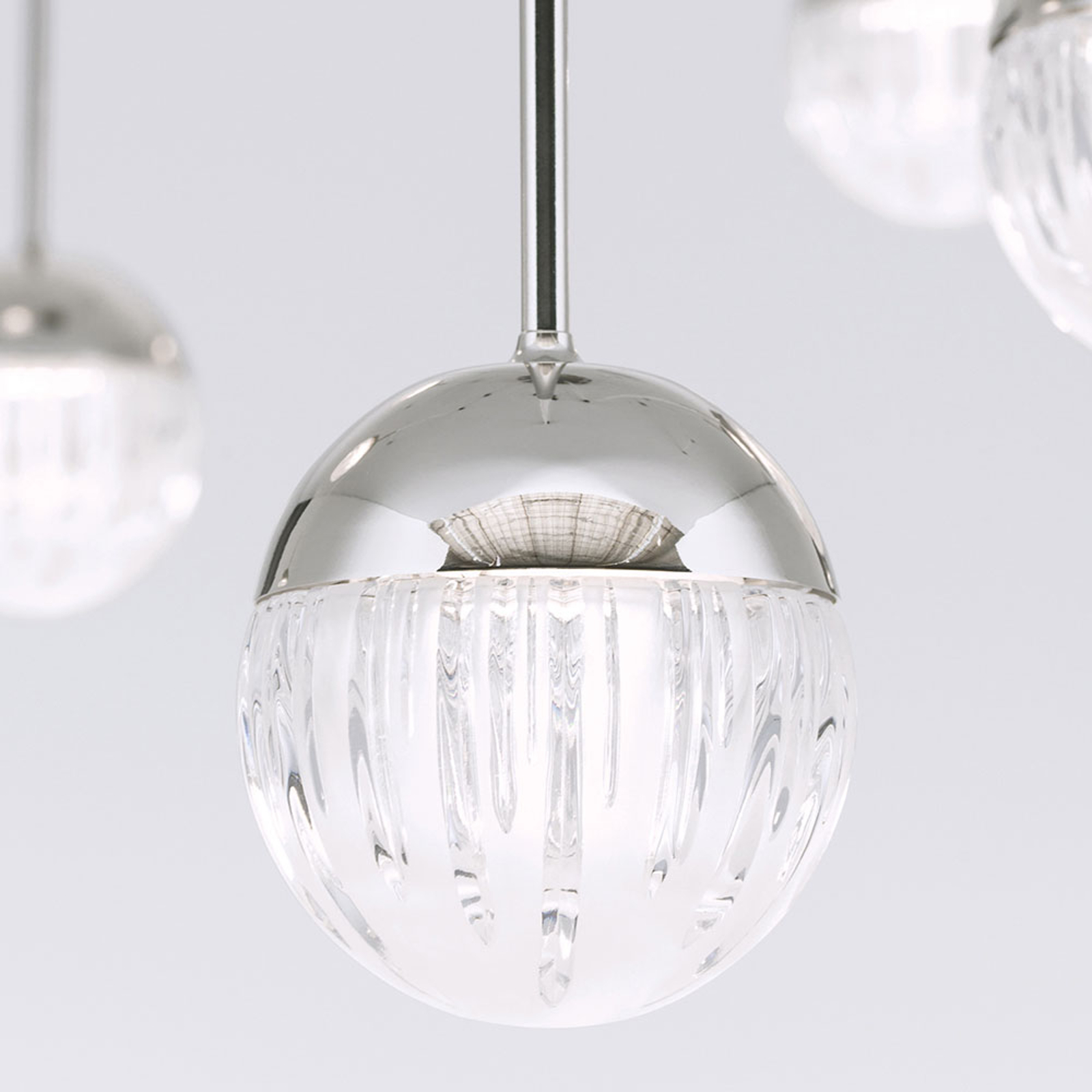 LED hanglamp Ball 10-lamps nikkel decentraal