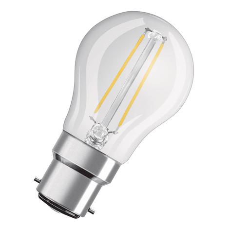 OSRAM LED lamp B22d Classic P filament 4W helder