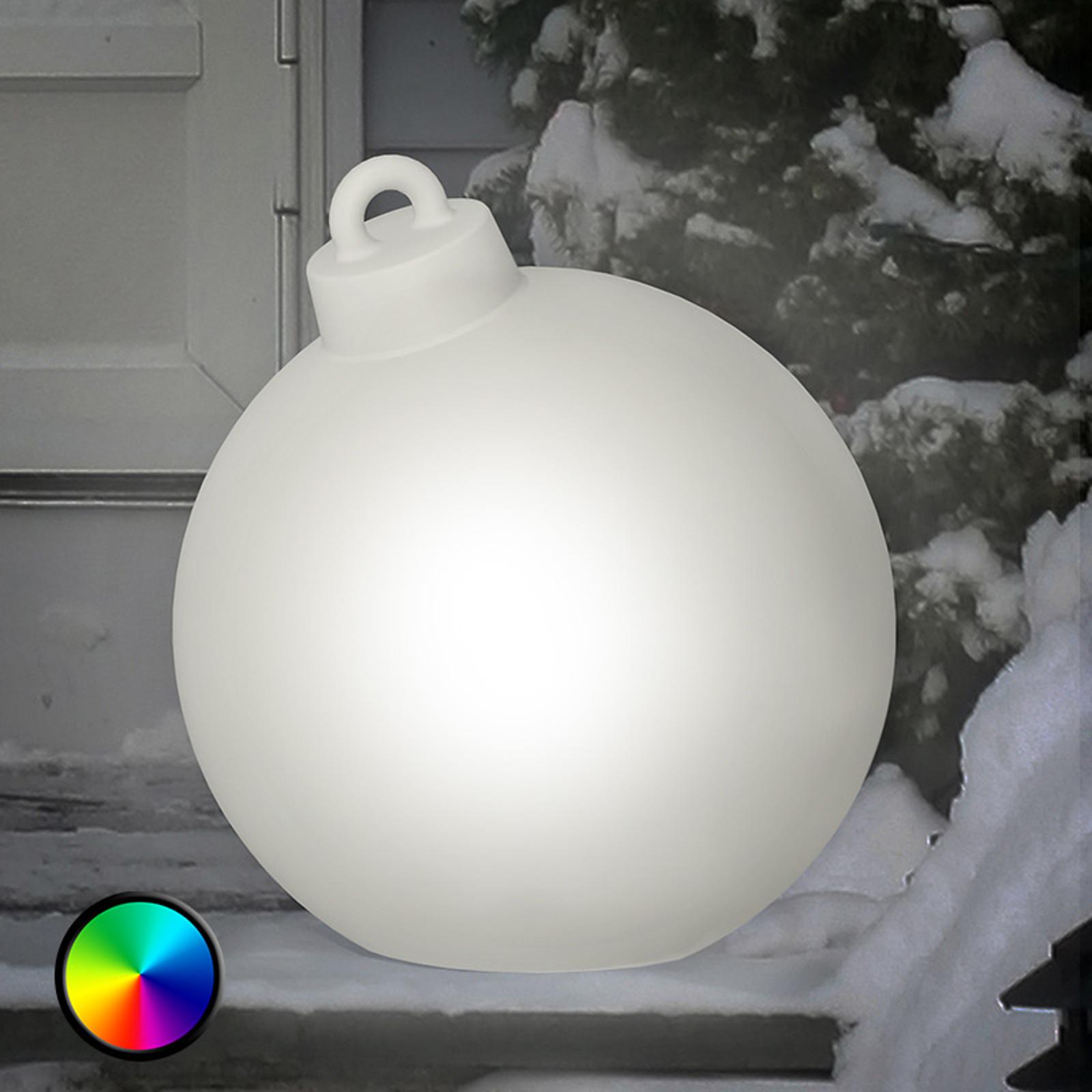 Shining Christmas Ball med LED-lys til utebruk