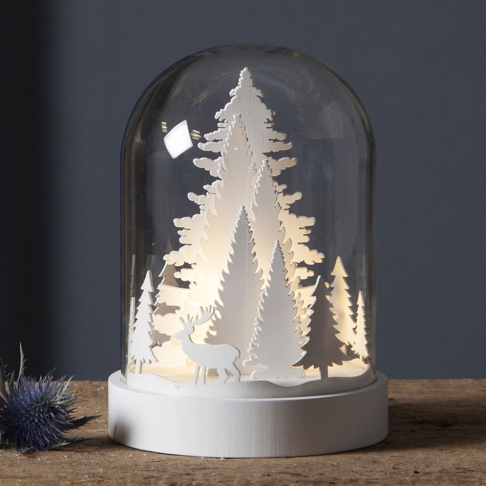 Kupol LED-dekorationslampe med skovscene