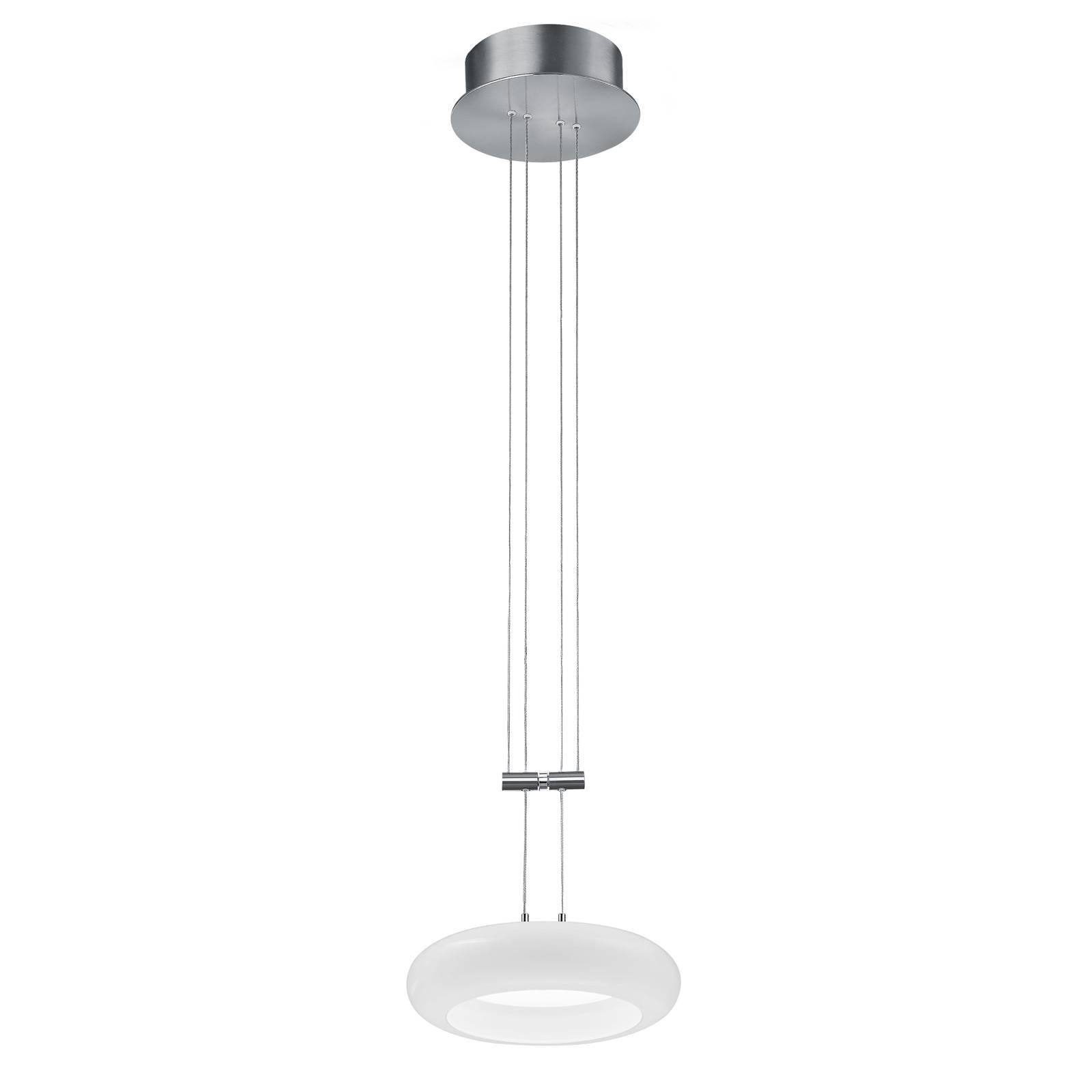 BANKAMP Centa hanglamp 1-lamp 20 cm nikkel