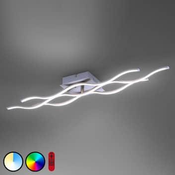 LED-Deckenleuchte LOLAsmart Wave dreiflammig stahl