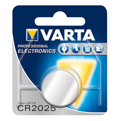 Pile bouton 3 V lithium CR2025 VARTA