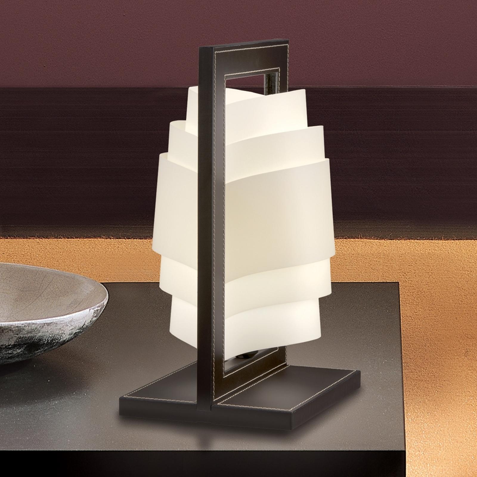 Lámpara de mesa marrón oscuro Vicente