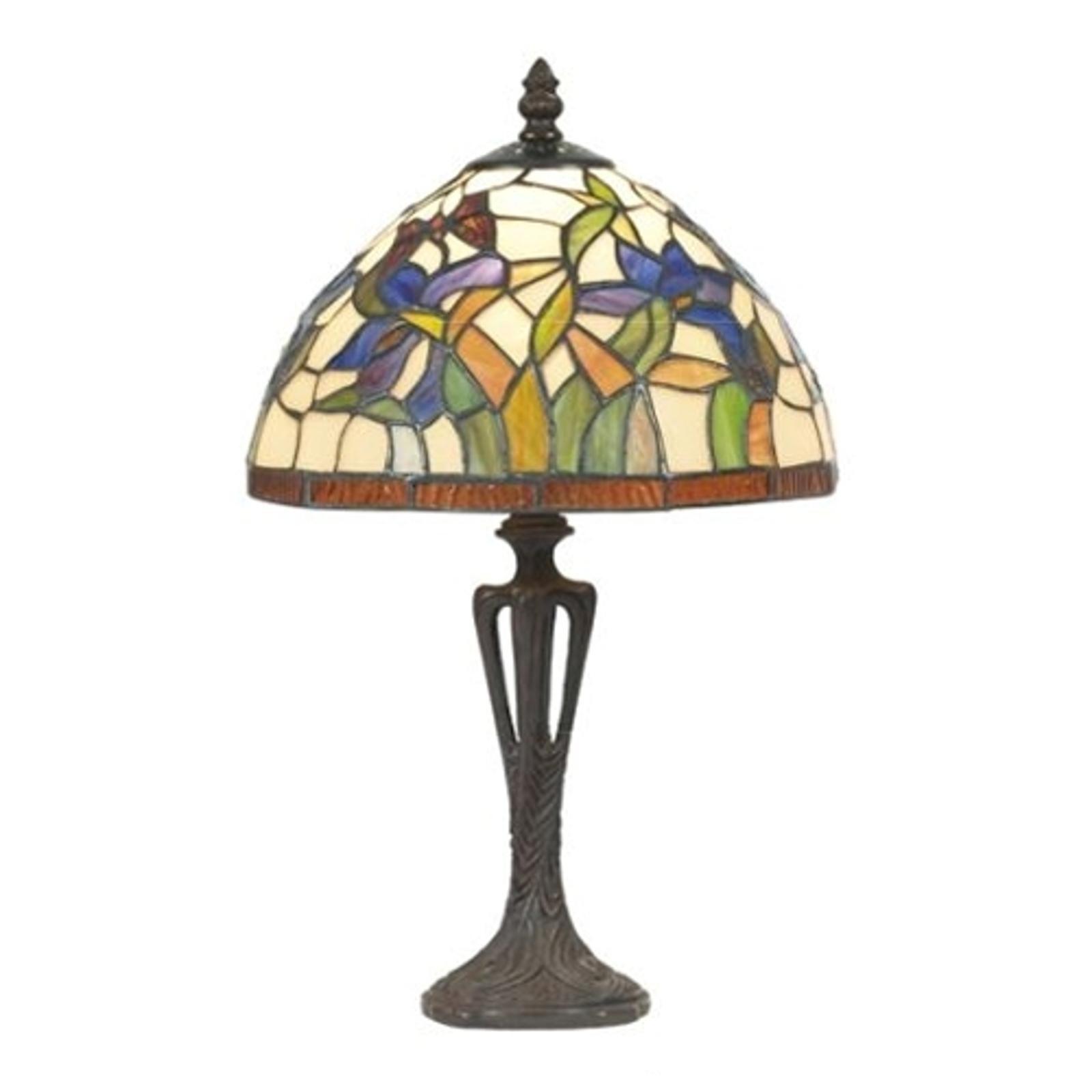Diskret bordslampa ELANDA, tiffanystil 41 cm