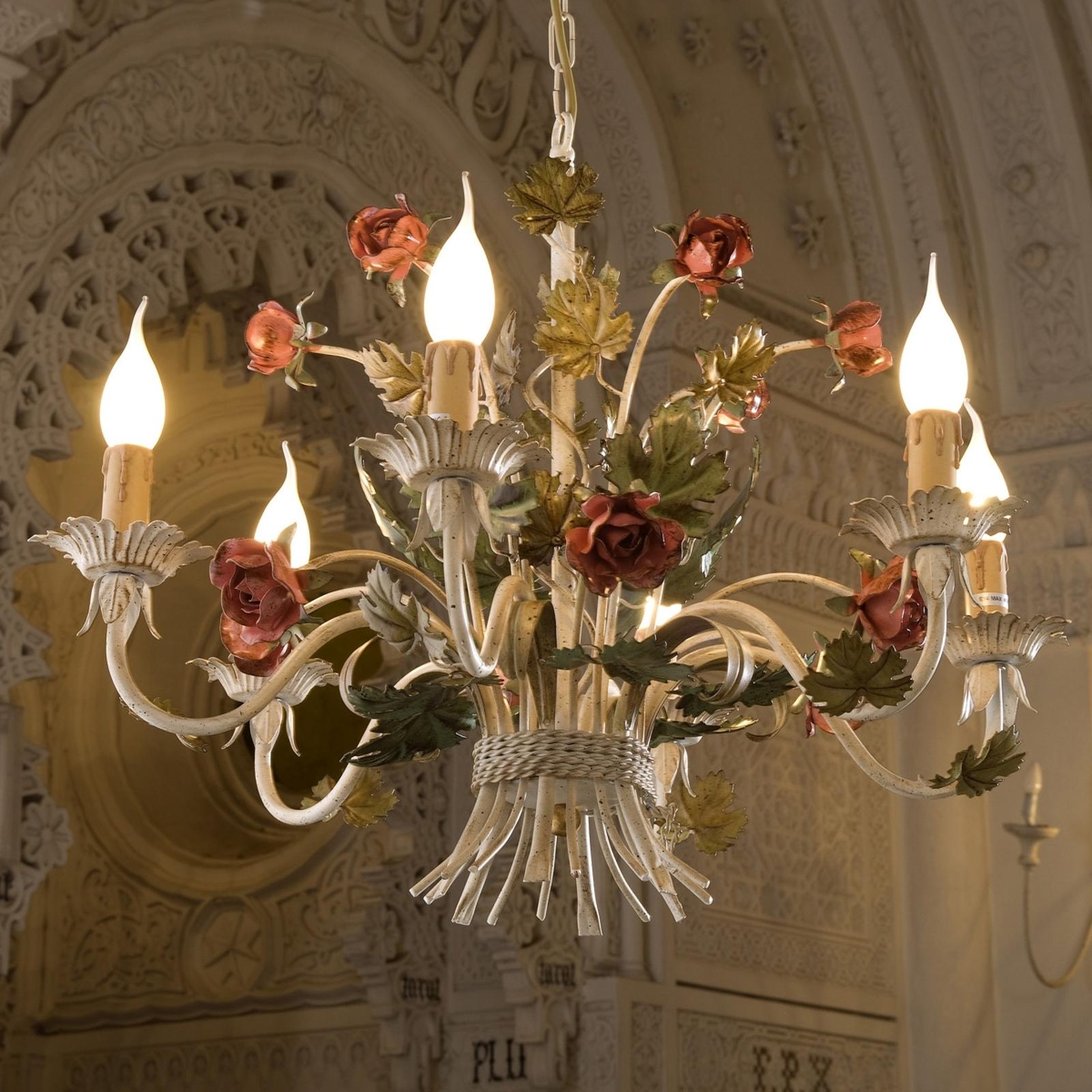 Elegant takkrona ANCONA med rosor