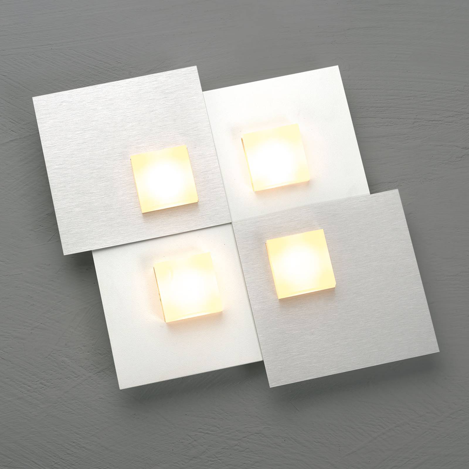 Bopp Pixel 2.0 lampa sufitowa LED 4-punktowa alu