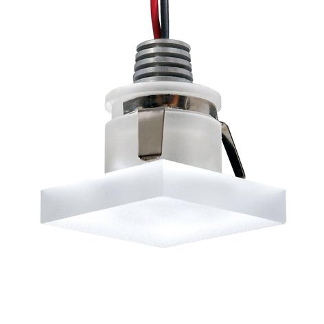 LED-Einbauspot Cristalin, eckig, IP44