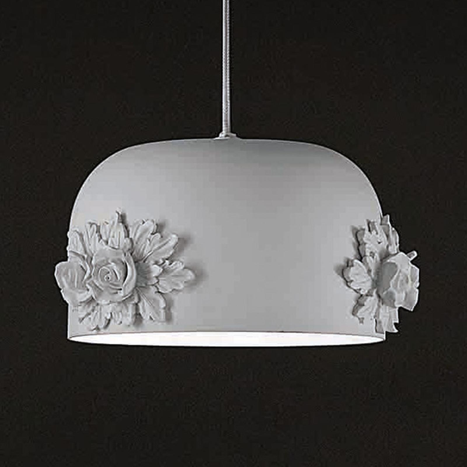 Mała lampa wisząca LED Dame w kolorze białym 18 cm