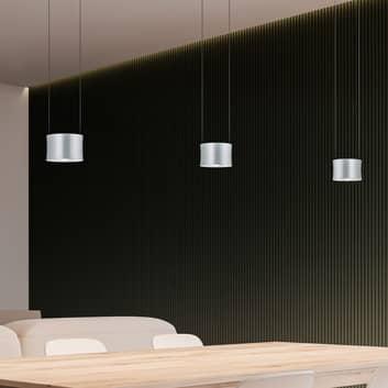 BANKAMP Impulse -LED-riippuvalo 3-lamp. nikkeli