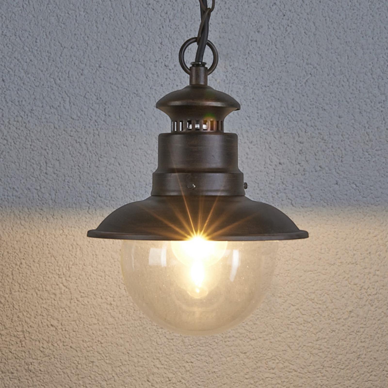 Buiten-hanglamp Eddie in landelijke stijl