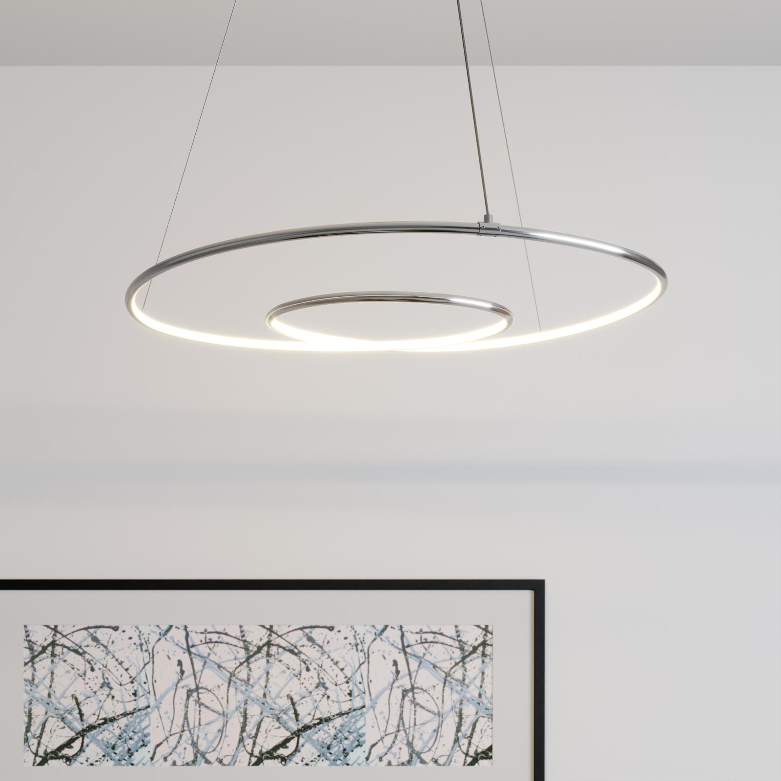 Lindby Lucy lampa wisząca LED, 70cm, chrom