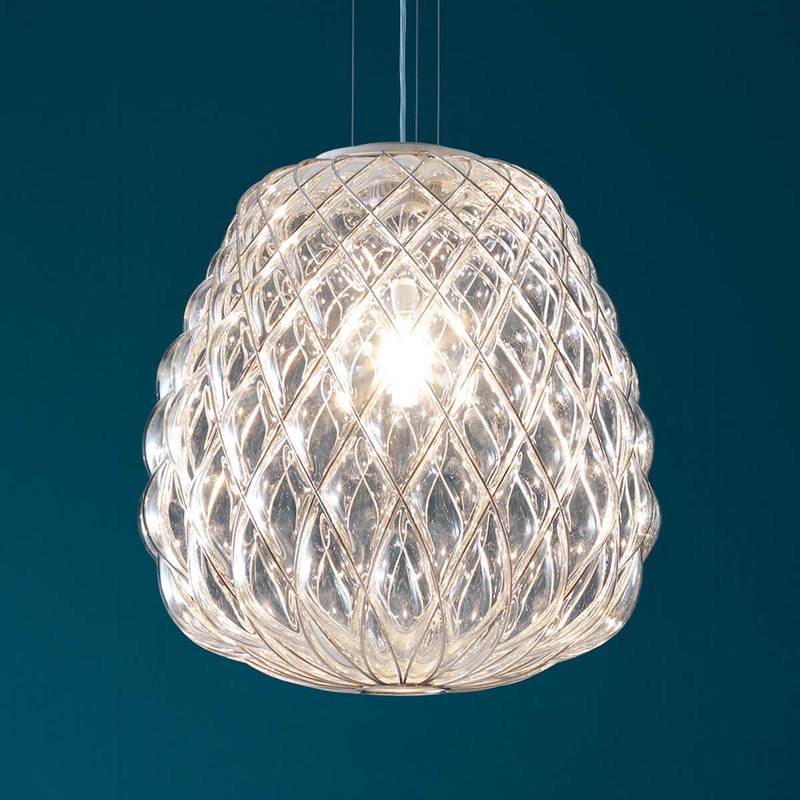 Szklana designerska lampa wisząca Pinecone