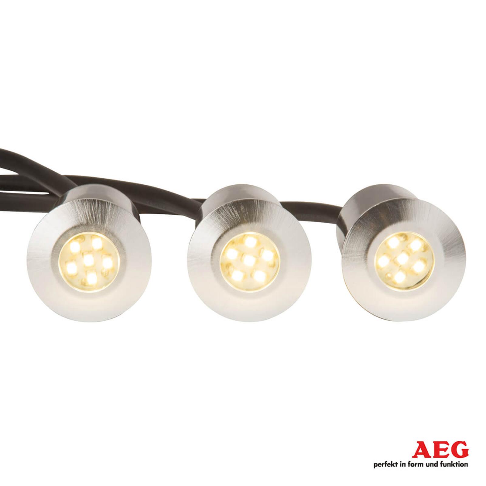 Albedo - upotettava LED-maaspotti 3-osainen