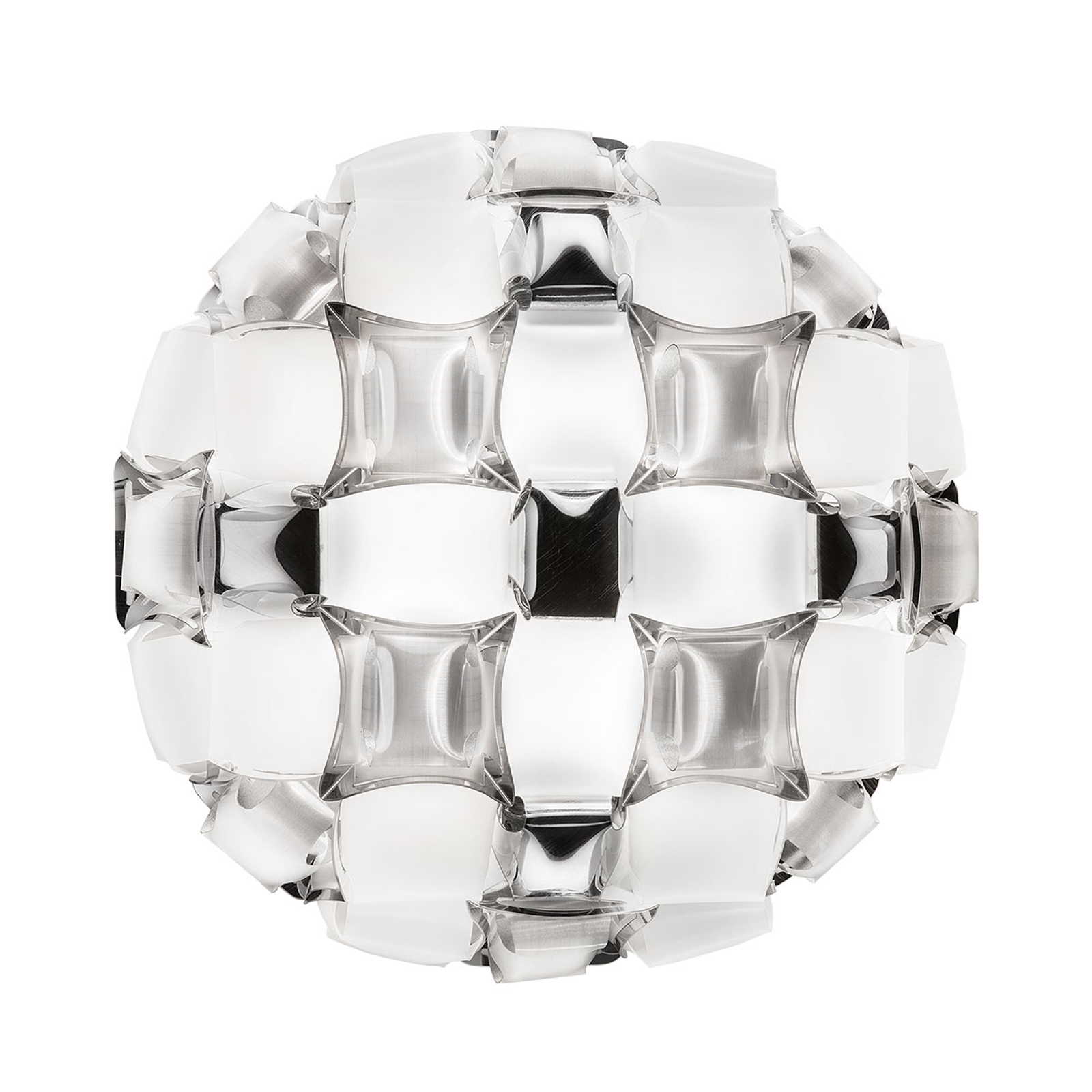 Slamp Mida Deckenleuchte, 50 cm, weiß-platin