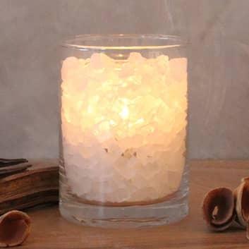 Vaso fuoco polare di salgemma con candela di cera