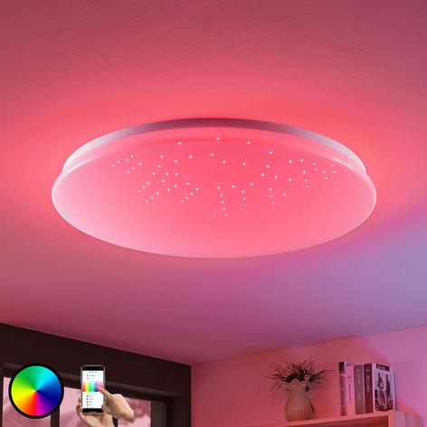LED-loftlampe Marlie, WiZ-teknologi, rund