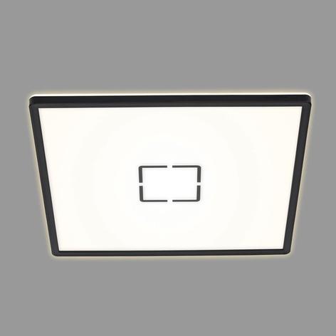 Plafón LED Free, 42 x 42 cm, negro