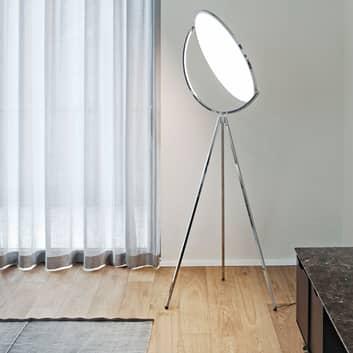 Superloon - designer-golvlampa, krom