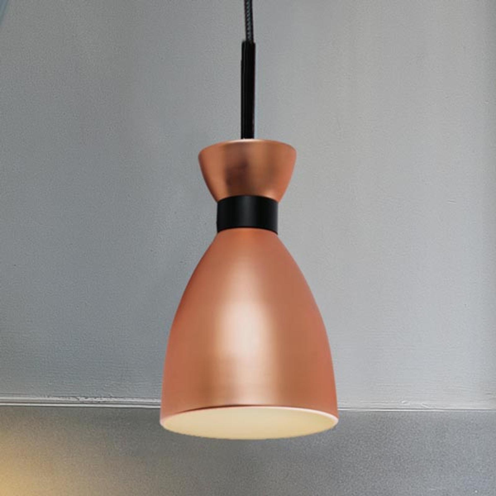 Stylowa lampa wisząca Retro, miedziana