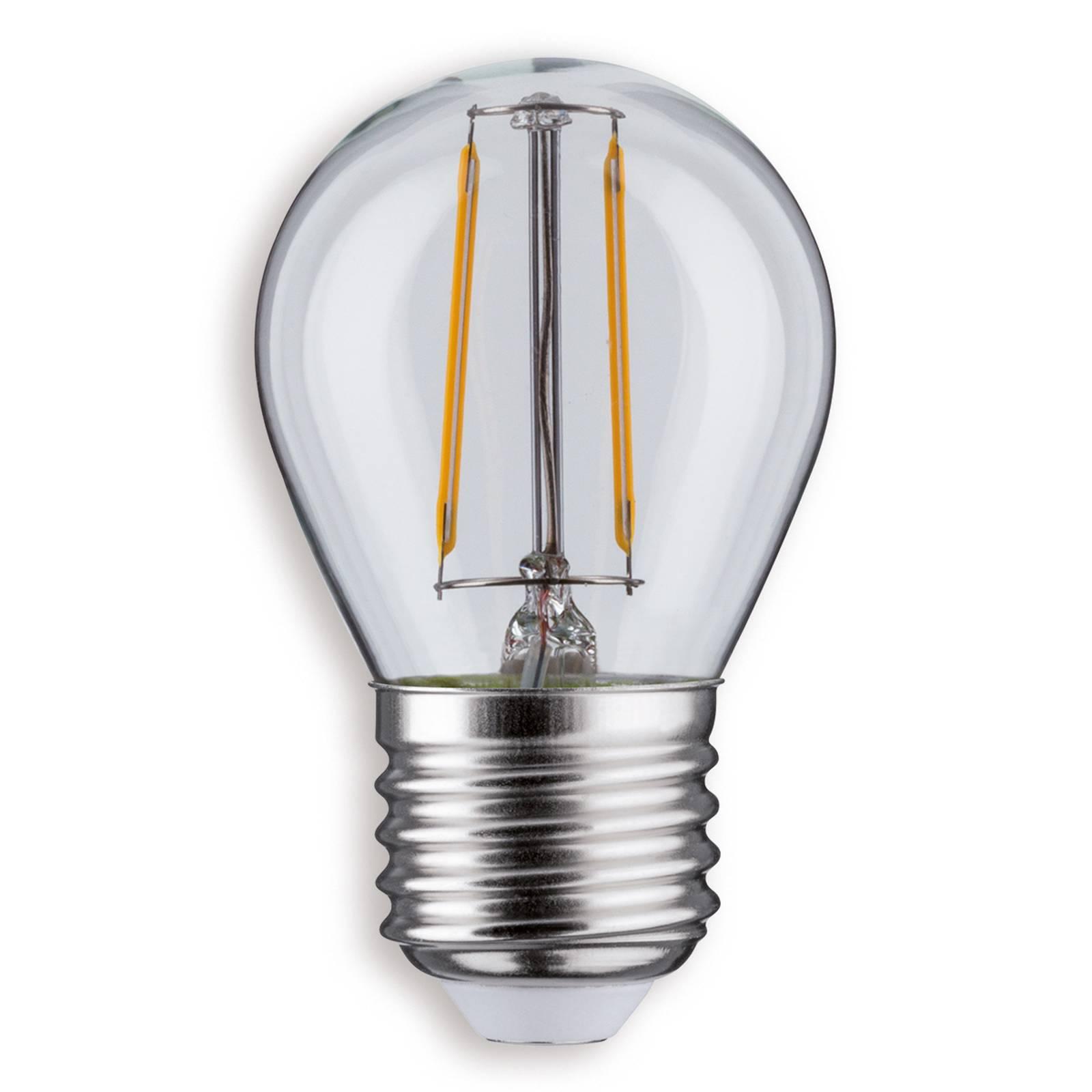 E27 2,5W 827 lampadina LED a goccia trasparente