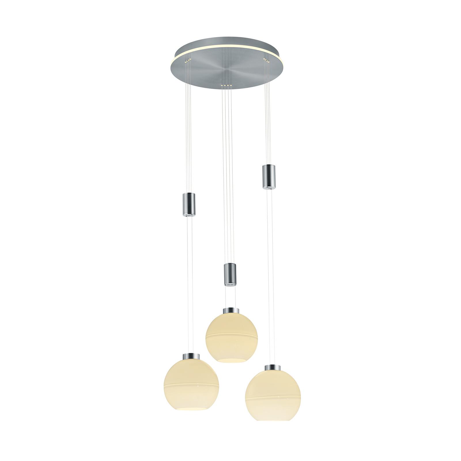 B-Leuchten Sam suspension LED ronde, nickel