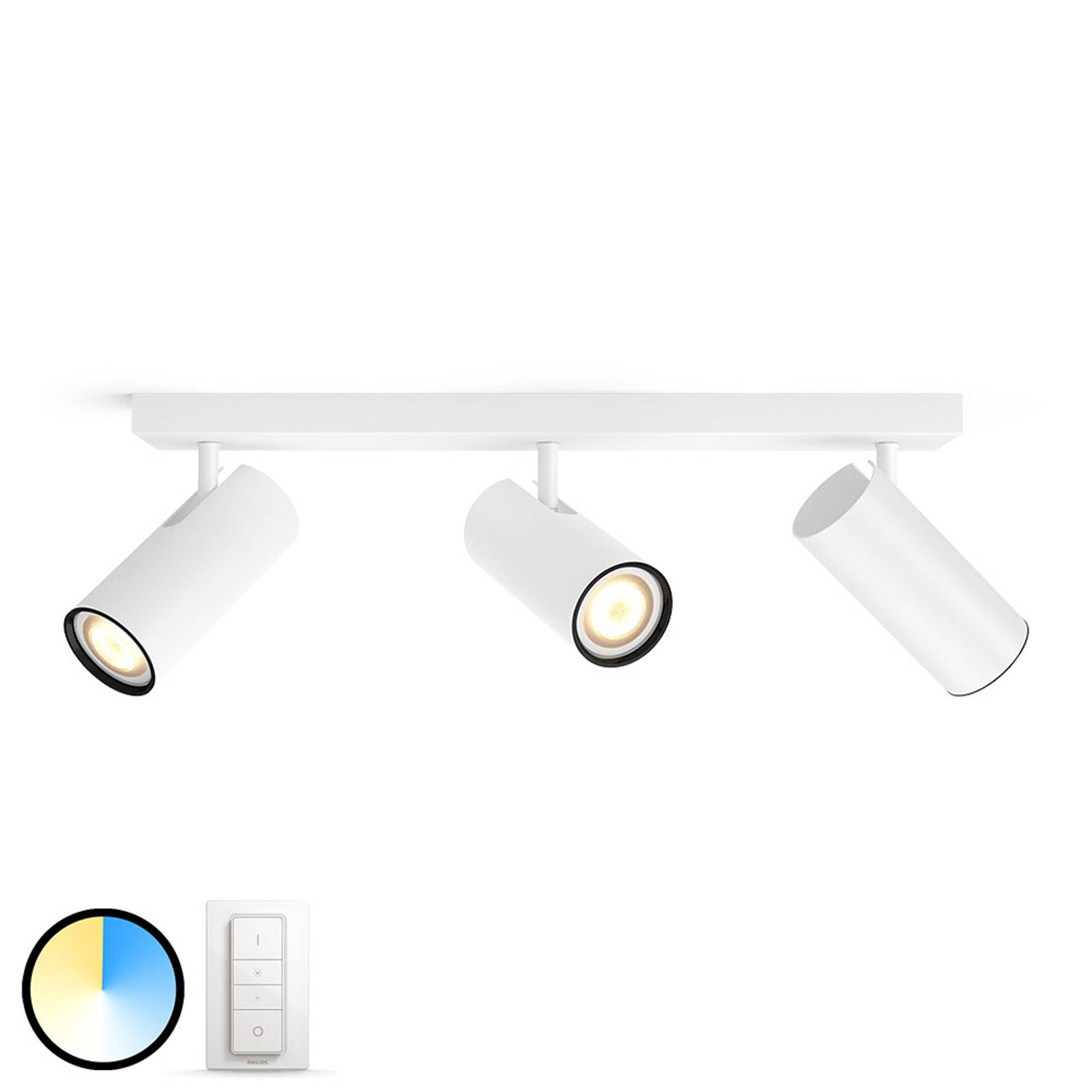 Philips Hue Buratto LED spot 3-lamps dimmer wit